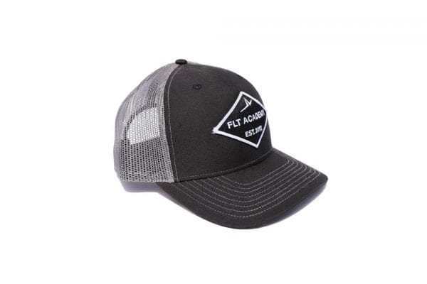 FLT Patch hat. Black front with gray back