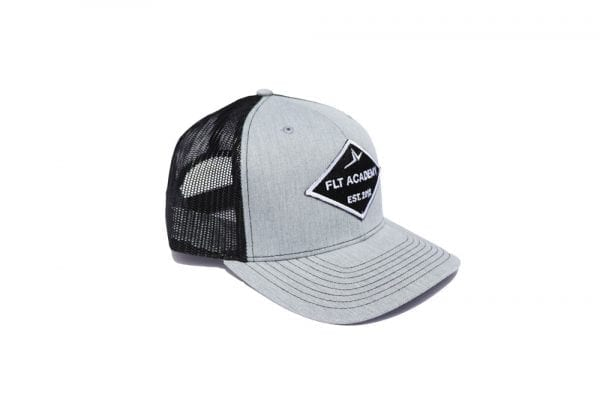 FLT Patch hat. Gray front with black back