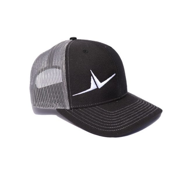 FLT Wings hat. Black front with gray back.