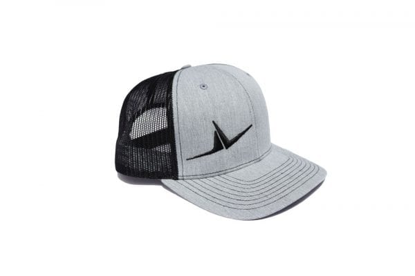 FLT Wings hat. Gray front with black back.