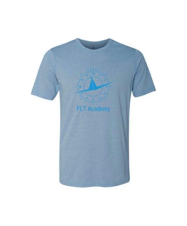 denim blue FLT shirt with compass