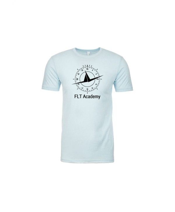 Ice Blue FLT shirt with compass