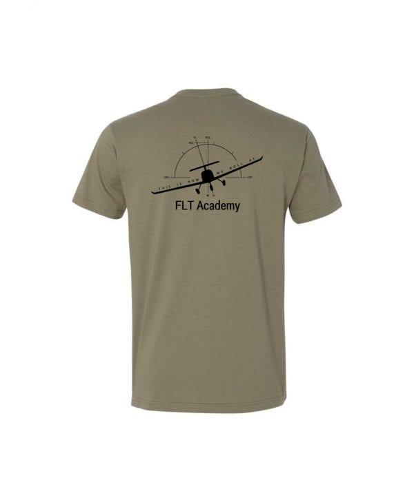 olive FLT shirt with plane on back